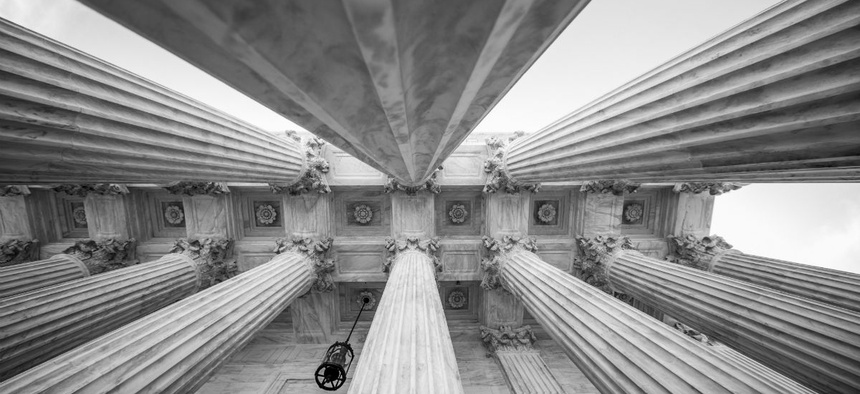 Columns at the U.S. Supreme Court.