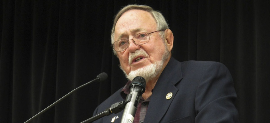 Rep. Don Young, R-Alaska, is a co-sponsor of the bill to require partnerships.