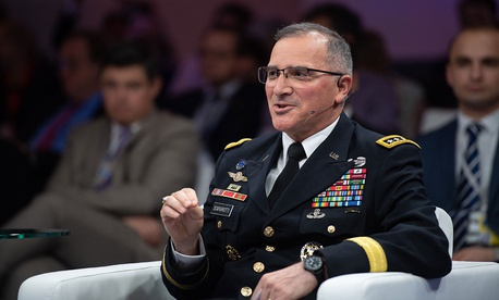 General Curtis M. Scaparrotti, Supreme Allied Commander Europe, speaks in Brussels in July.