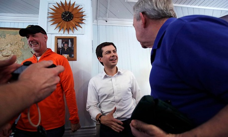 Buttigieg meets residents in New Hampshire in 2018