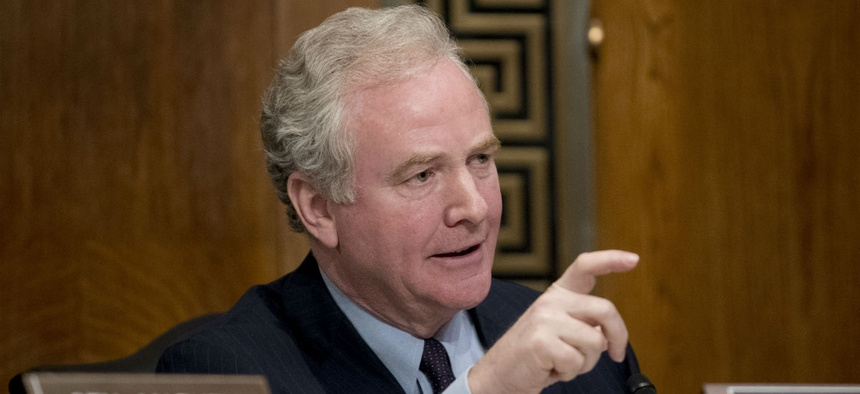 Sen. Chris Van Hollen, D-Md., is one of the lawmakers working to get back pay for contractors.