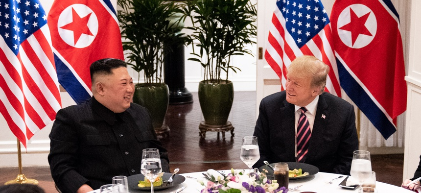 Trump and Kim meet in Hanoi in February.