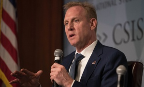 Acting Secretary of Defense Patrick M. Shanahan speaks at the Center for Strategic and International Studies on Wednesday.
