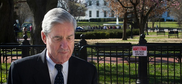 Special Counsel Robert Mueller walks past the White House after attending services at St. John's Episcopal Church on Sunday.