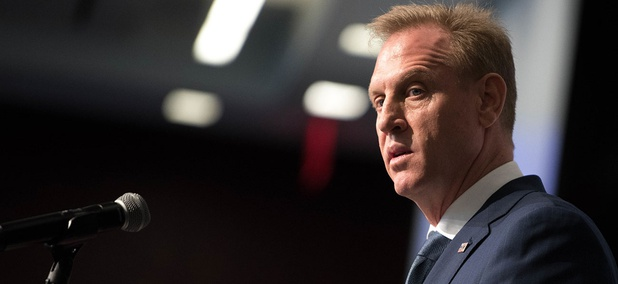 Acting Secretary of Defense Patrick M. Shanahan speaks at the Center for Strategic and International Studies in Washington.