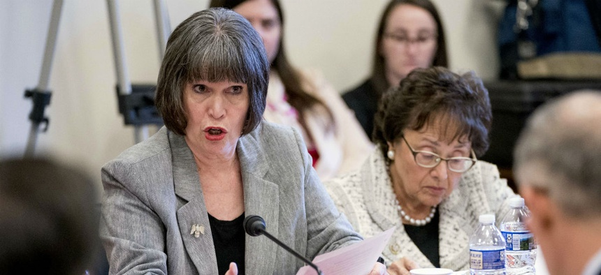 Rep. Betty McCollum, D-Minn., left, said the budget justification does not explain what taxpayers would get for their money with the reorganization.