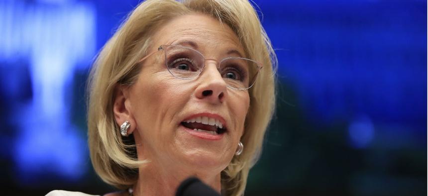 Education Secretary Betsy DeVos is named in the lawsuit.