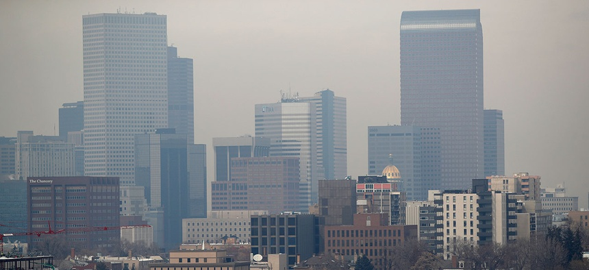 Fine particle pollution in Denver exceeded federal health standards on March 6, 2019, triggering a citywide alert.