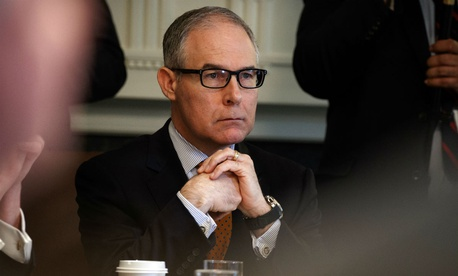Former EPA Administrator Scott Pruitt was criticized for accepting donations to a legal defense fund without consulting with ethics officials.