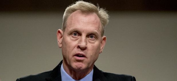 Acting Defense Secretary Patrick Shanahan speaks during a Senate Armed Services Committee hearing on April 11.