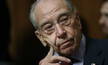 Senate Judiciary Committee Chairman Chuck Grassley of Iowa has blocked Senate action on President Trump's nominee over a document dispute with the intelligence community.