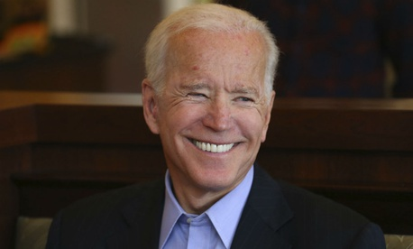 Democratic presidential contender and former Vice President Joe Biden greets patrons in a restaurant in New York last fall.