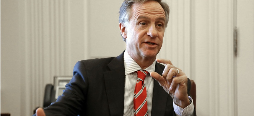 Former Tennessee Gov. Bill Haslam (R) is interviewed in Nashville in December.