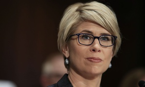 Kimberly Reed testifies before the Senate Banking Committee last summer during her confirmation hearing.