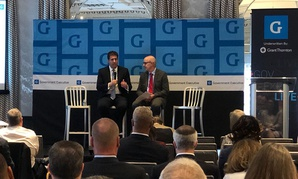 OPM Deputy Director Michael Rigas (left) speaks during a GovExec Live event Thursday.