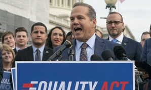 Rep. David Cicilline, D-R.I., speaks before the Friday House vote on the 2019 Equality Act.