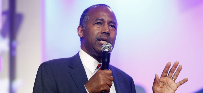 Housing and Urban Development Secretary Ben Carson speaks to the 2018 Values Voter Summit in Washington last fall.
