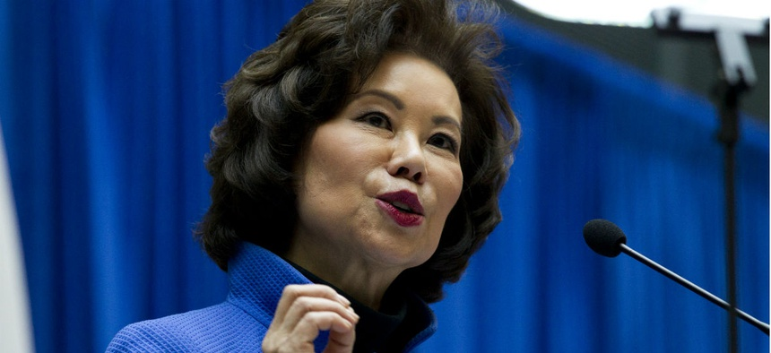 Transportation Secretary Elaine Chao speaks during a major infrastructure investment announcement in Washington in December.