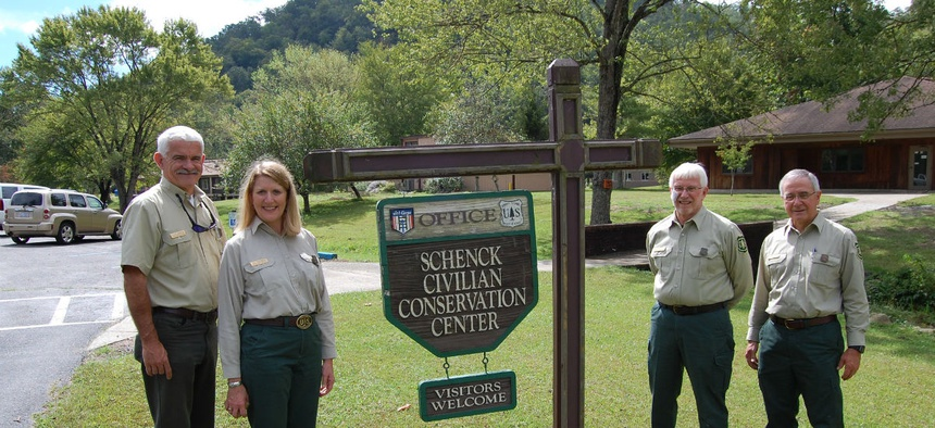"Chief of the Forest Service, Victoria ""Vicki"" Christiansen visits the Schenck Job Corps Center in September 2018."