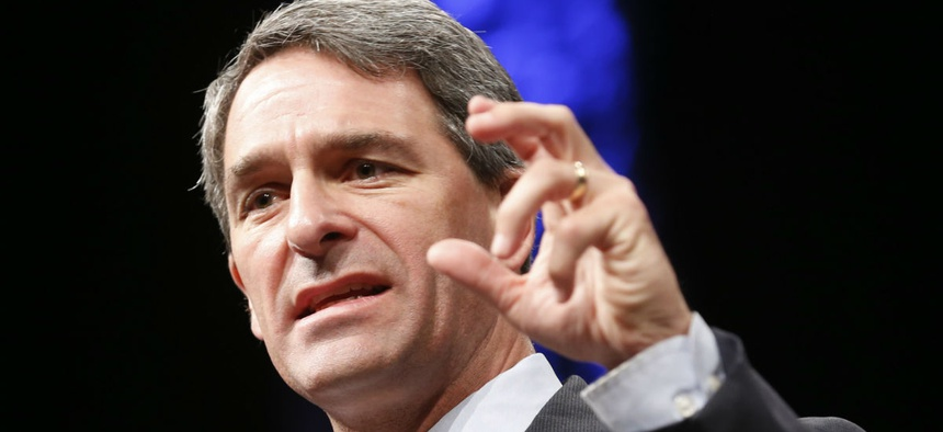Former Virginia Attorney General Ken Cuccinelli addresses the Virginia GOP Convention in Roanoke, Va., in 2014. Cuccinelli has been named acting director of USCIS.