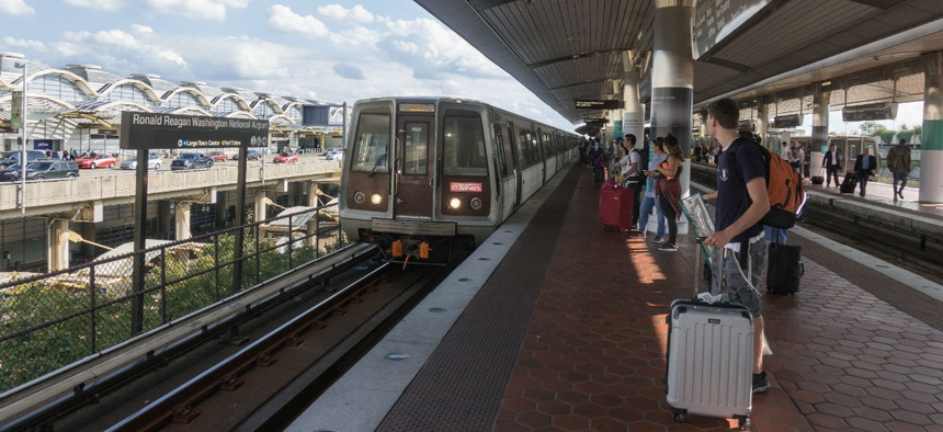 Metro stations south of National Airport are closed for the summer for platform improvements.