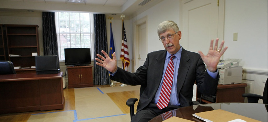 "Dr. Francis Collins, director of the National Institutes of Health, says, ""Too often, women and members of other groups underrepresented in science are conspicuously missing"" from the lineup at key events."