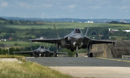F-35s arrive at Spangdahlem Air Base, Germany, on June 11.
