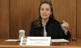 Acting OPM Director Margaret Weichert  gave lawmakers an ultimatum.