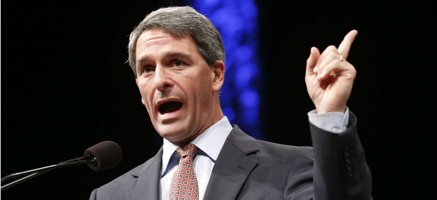 Former Virginia Attorney General Ken Cuccinelli addresses the Virginia GOP Convention in Roanoke, Va., in 2014. Cuccinelli is now acting director of USCIS.