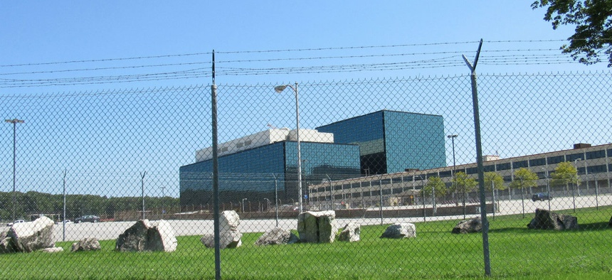 A fence surrounds the complex that houses NSA.