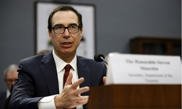 Treasury Secretary Steven Mnuchin said he cannot be sure when the U.S. will run out of cash, risking default.