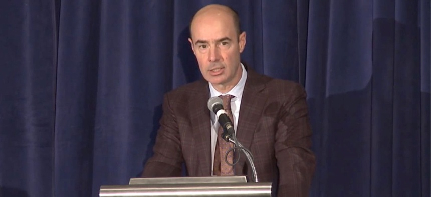 Eugene Scalia has focused on labor law and regulatory matters.