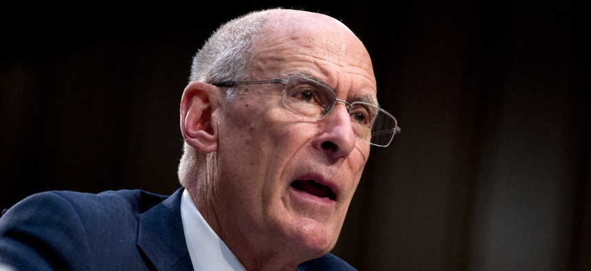 Daniel Coats testifies before the Senate Intelligence Committee in January.