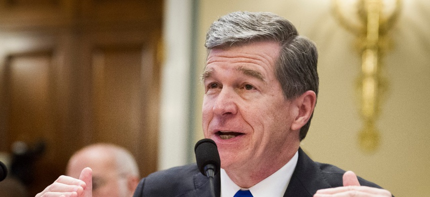 North Carolina Gov. Roy Cooper testifies in Washington in February.