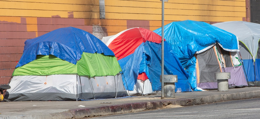 The Trump administration is reportedly interested in moving Skid Row residents to L.A.'s vacant Hawthorne Federal Building.
