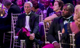 Government Hall of Fame inductee Dr. Anthony Fauci attends Thursday's gala at the Washington National Cathedral.