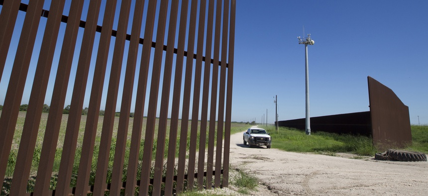 A section of the South Texas border fence is shown in 2013.