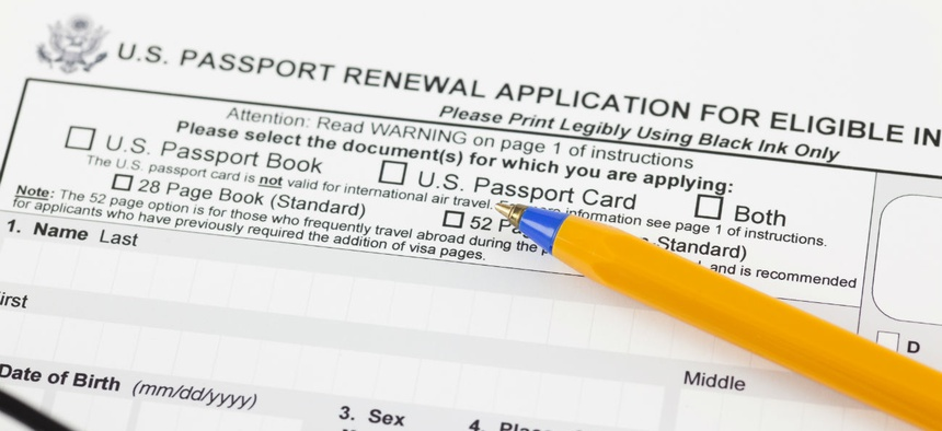 The passport application process was one area where government excelled in customer service.