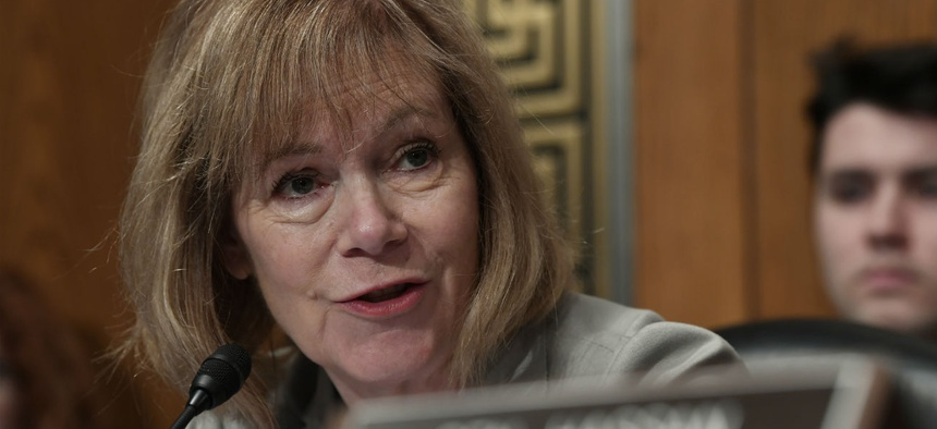 Sen. Tina Smith, D-Minn., is introducing an appropriations bill amendment to grant contractors shutdown back pay.