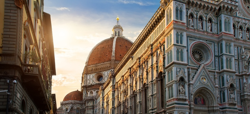 Piazza del Duomo and cathedral of Santa Maria del Fiore in Florence, Italy. The city's approach to building the Renaissance masterpiece offers some lessons for government.