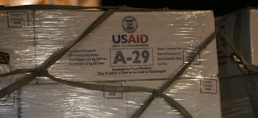 Food aid is sent to Iraq in 2013.