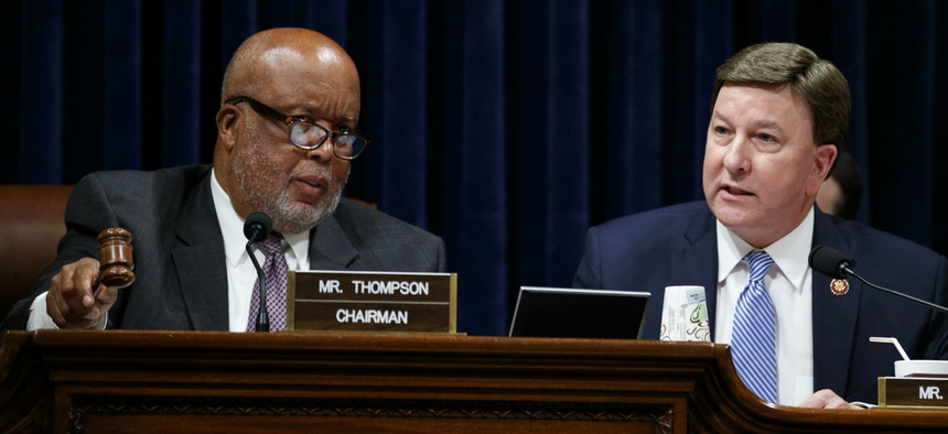 "House Homeland Security Committee Chairman Rep. Bennie Thompson, D-Miss., (left) and ranking member Rep. Mike Rogers, R-Ala., wrote a letter calling the failure to respond ""unacceptable."""