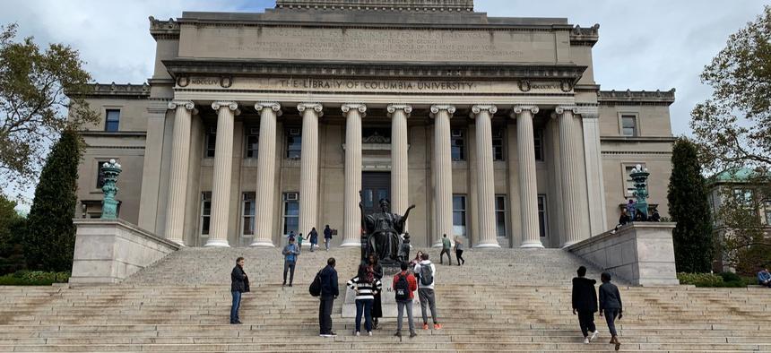 Campus of Columbia University in New York City.