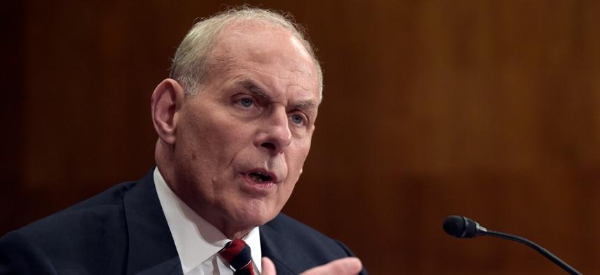 Kelly testifies in Congress in 2017.