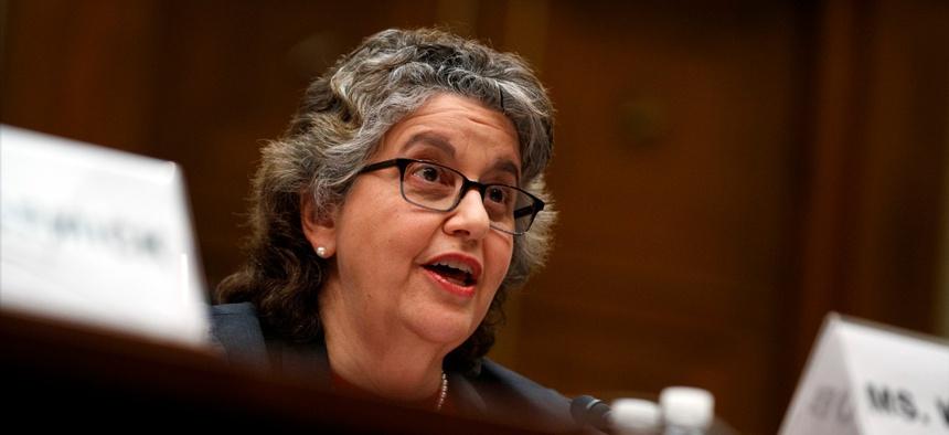 FEC Commissioner Ellen Weintraub testifies on Capitol Hill in May.
