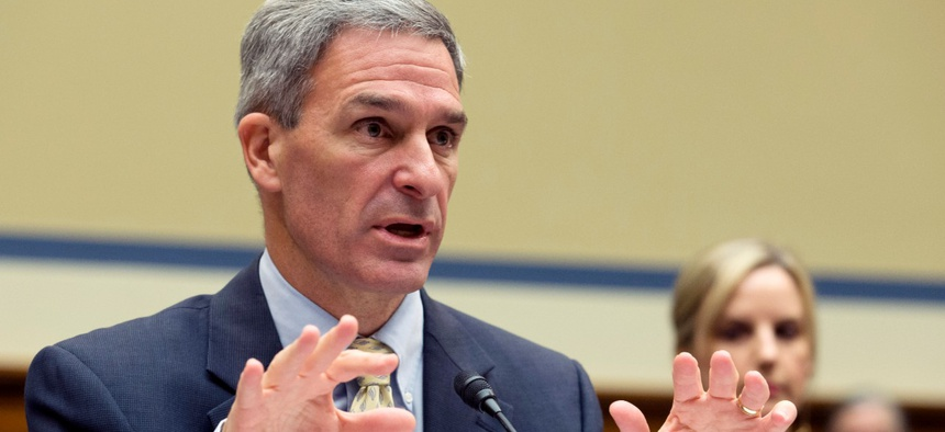 Ken Cuccinelli, who is serving as leader of USCIS, testifies on Capitol Hill in October.