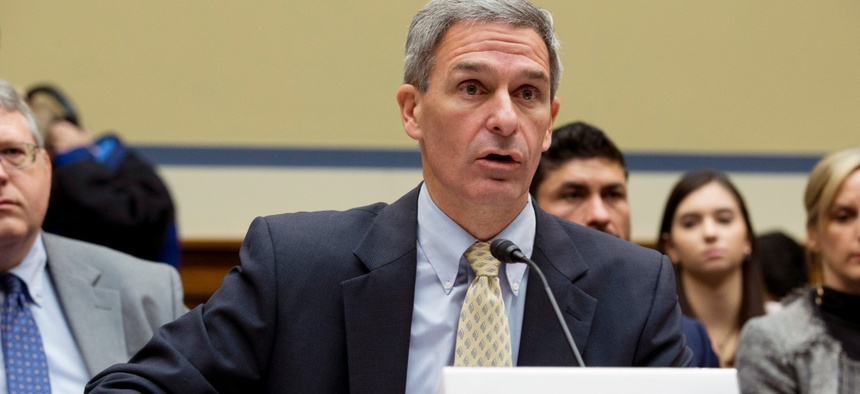 Ken Cuccinelli, who is serving as head of USCIS, testifies on Capitol Hill in October.