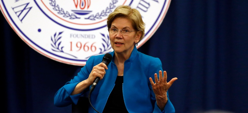 Sen. Elizabeth Warren speaks at a presidential forum at Wallace State Community College on Sunday in Selma, Ala. Warren was one of the senators who wrote the letter.