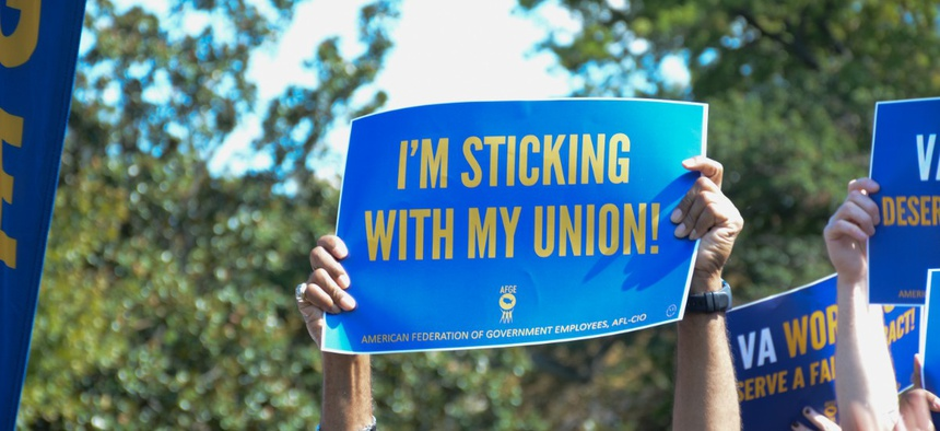 Union members rally at the Capitol on Sept. 24, 2019.