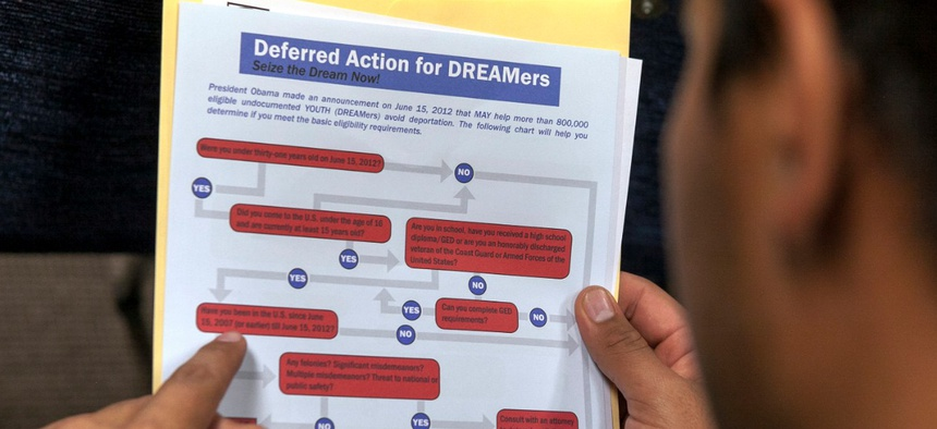 Applicants for the Deferred Action for Childhood Arrivals program were told their information would not be shared with deportation agents.